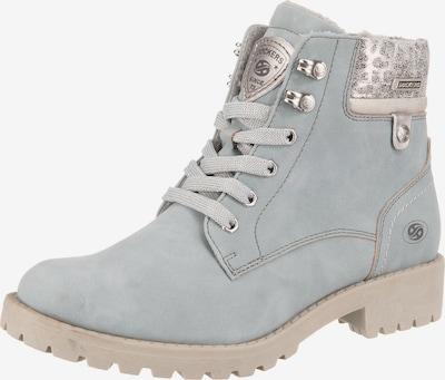 Dockers by Gerli Lace-Up Ankle Boots in mottled beige / Smoke blue / Dark grey / Orange / Black, Item view