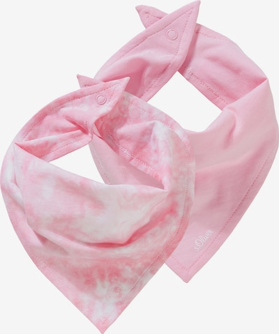 s.Oliver Stoffen mondkapje in de kleur Rosé / Wit, Productweergave