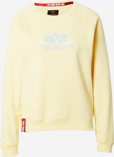 ALPHA INDUSTRIES Sweater majica u pastelno žuta / siva, Pregled proizvoda