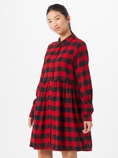 ONLY Blusenkleid in rot / schwarz, Modelansicht
