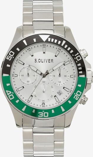s.Oliver Uhr in grün / silber, Produktansicht