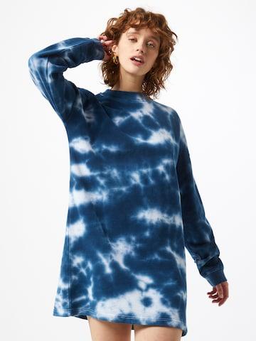 Missguided Oversized jurk in Blauw