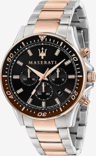 Maserati Uhr 'Sfida' in gold / schwarz / silber, Produktansicht