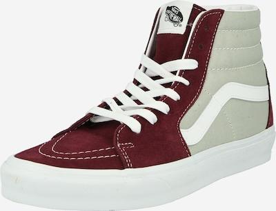 VANS Sneaker in hellgrau / burgunder / weiß, Produktansicht