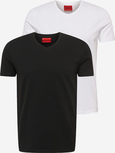 Maglietta 'HUGO-V' HUGO di colore nero / bianco, Visualizzazione prodotti