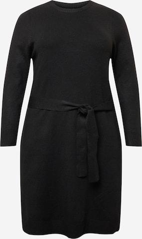 PIECES Curve Knit dress 'CAVA' in Black