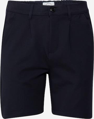 Pantaloni con pieghe di Kronstadt in blu