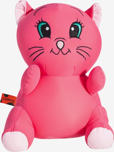 CuddleBug Reisekissen Pluche Travel pillow Cat in pink, Produktansicht