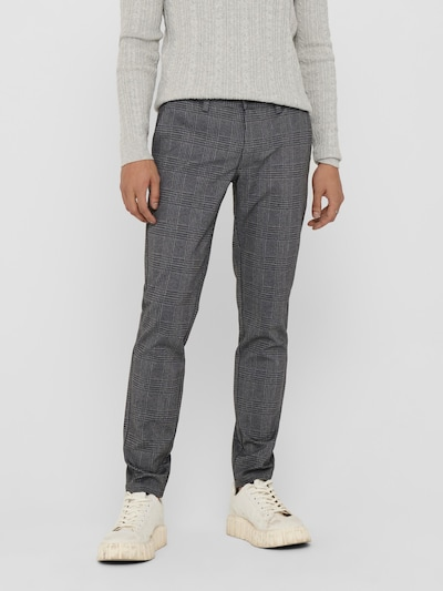 Only & Sons Chino-püksid 'Mark' hall / meleeritud hall / must, Modellivaade