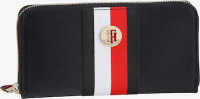 TOMMY HILFIGER Wallet in Navy / Light red / White, Item view