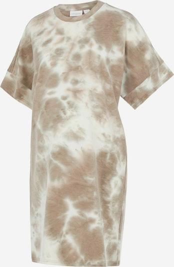 MAMALICIOUS Kleid in hellbraun / weiß, Produktansicht