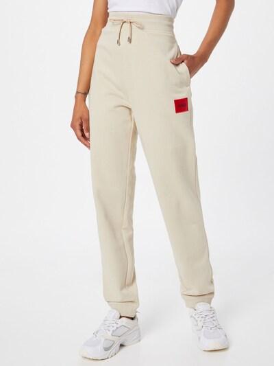HUGO Kalhoty 'Dachibi' - krémová / červená / černá, Model/ka