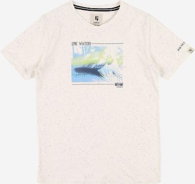 GARCIA T-Shirt en bleu marine / bleu clair / vert / blanc chiné, Vue avec produit