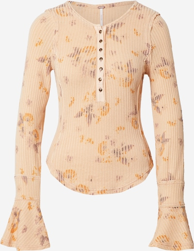 Free People Shirt in de kleur Lichtlila / Sinaasappel / Perzik, Productweergave