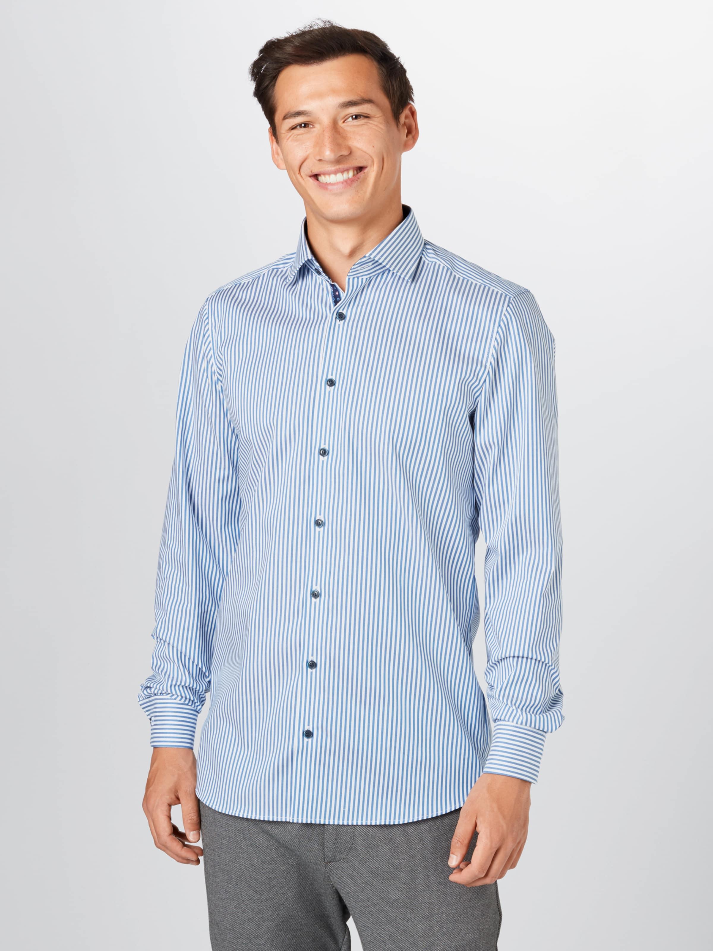 OLYMP Hemd in blau / weiß Baumwolle OLY0228001000001