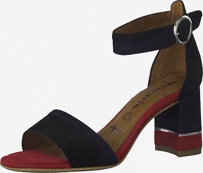 TAMARIS Sandale in dunkelblau / himbeer / schwarz / silber, Produktansicht