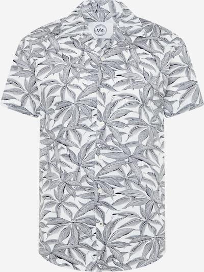 Kronstadt Skjorta 'Cuba Exotic' i duvblå / vit, Produktvy