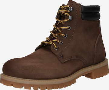 JACK & JONES Lace-Up Boots 'JFWStoke' in Brown