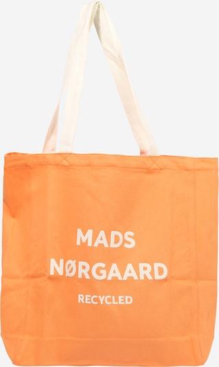 MADS NORGAARD COPENHAGEN Shopper 'Athene' in hellorange / weiß, Produktansicht