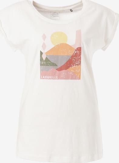 Lakeville Mountain T-Shirt 'Patos' in mischfarben / weiß, Produktansicht