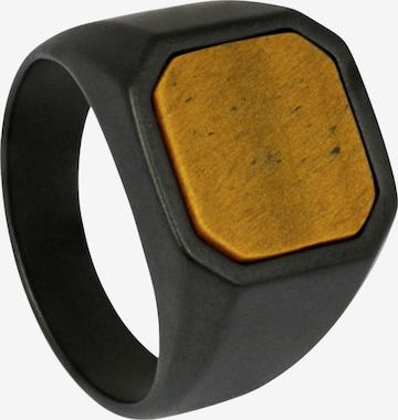 Tateossian London Ring in Black
