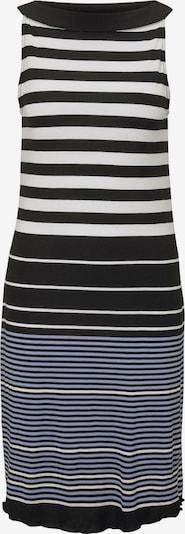 TOM TAILOR Kleid in rauchblau / schwarz / weiß, Produktansicht