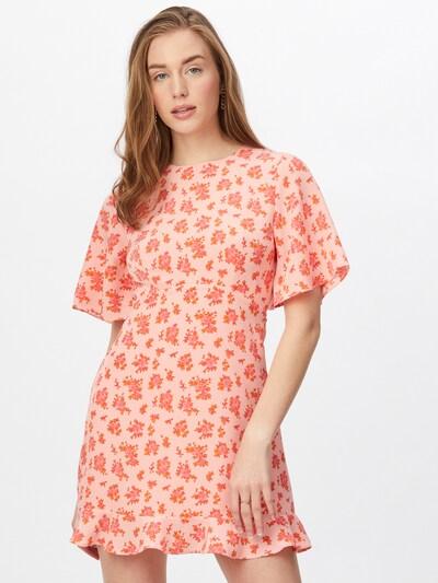 Rochie Fashion Union pe portocaliu / roz / roz, Vizualizare model
