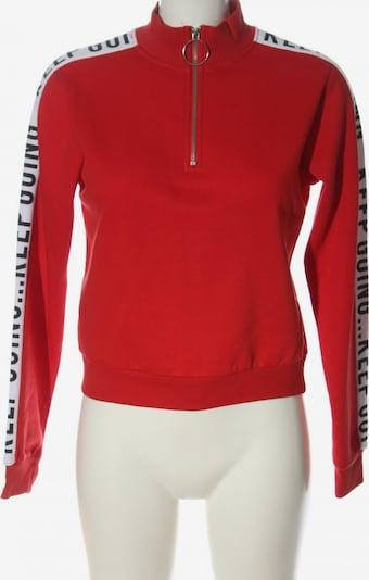 Jennyfer Sweatshirt in XS in rot / schwarz / weiß, Produktansicht