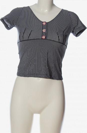COTTON Club Trachtenbluse in XS in schwarz / weiß, Produktansicht