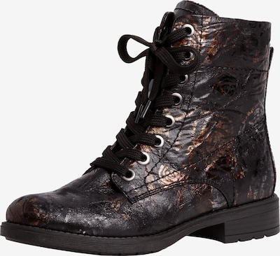 JANA Lace-Up Ankle Boots in Gold / Black, Item view