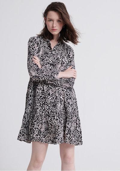 Superdry Blusenkleid in schwarz / weiß, Modelansicht