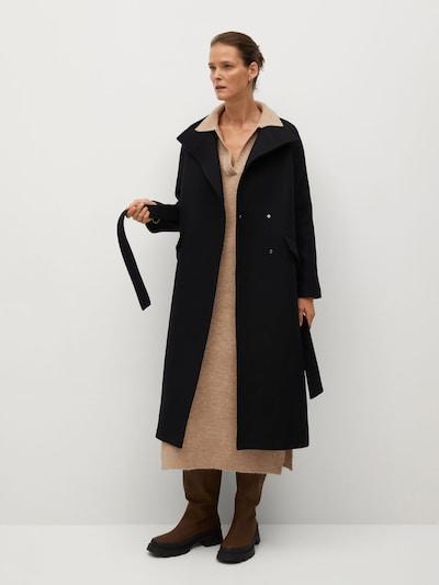 MANGO Mantel 'Abrigo Venus' in schwarz, Modelansicht