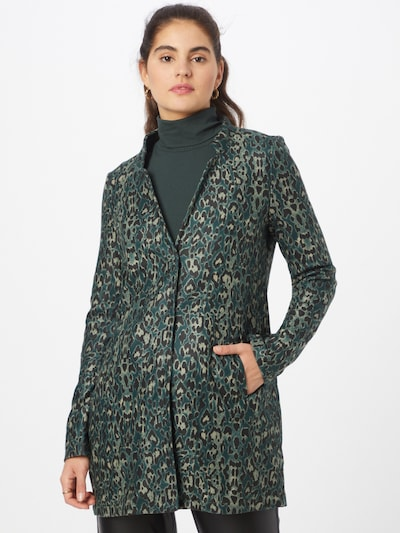 VERO MODA Mantel 'KATRINE' in smaragd / mint / schwarz, Modelansicht