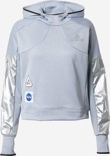 ADIDAS PERFORMANCE Sportsweatshirt in grau / orange / schwarz / silber, Produktansicht