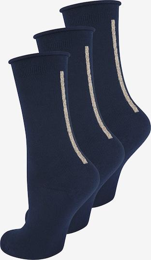 ELBEO Damensocken ' 3-Pack Straight Elegance ' in blau / dunkelblau, Produktansicht