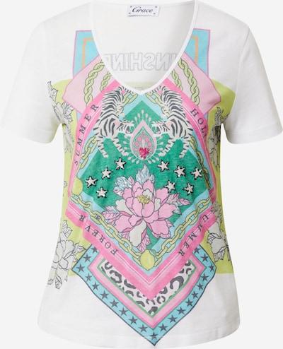 Grace Shirt 'Burnout' in mischfarben / weiß, Produktansicht