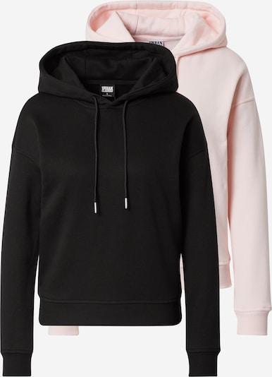 Urban Classics Sweatshirt i ljusrosa / svart, Produktvy