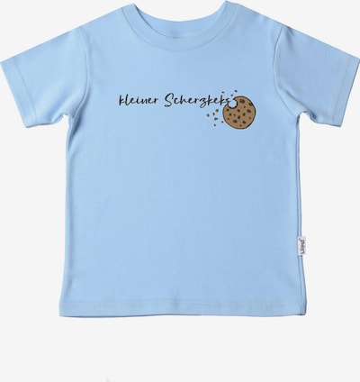 LILIPUT T-Shirt 'Scherzkeks' in hellblau / braun / schwarz, Produktansicht