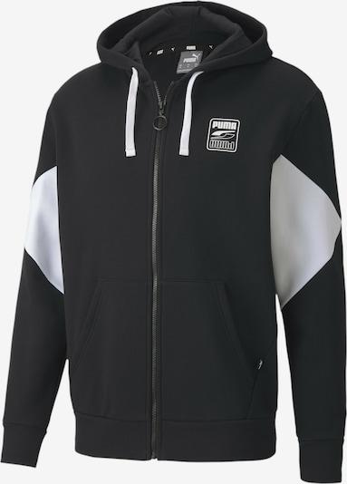 PUMA Sweatjacke in schwarz / weiß, Produktansicht