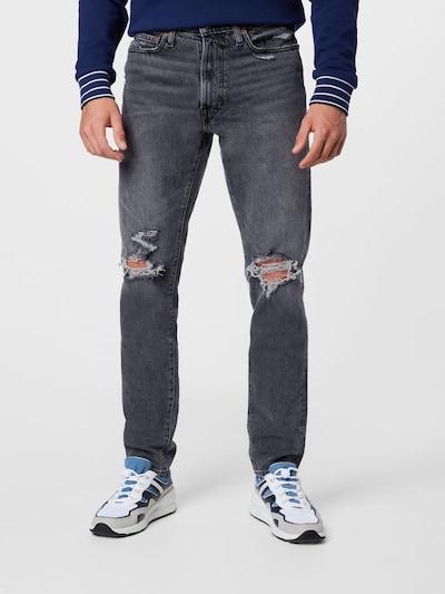 Jeans Abercrombie & Fitch pe gri denim, Vizualizare model