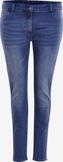 Navigazione Stretch-Jeans mit Galonstreifen in blau, Produktansicht