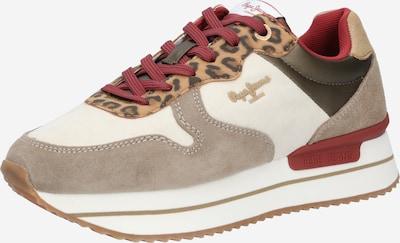 Pepe Jeans Sneakers laag 'Rusper Leo' in de kleur Beige / Bruin, Productweergave