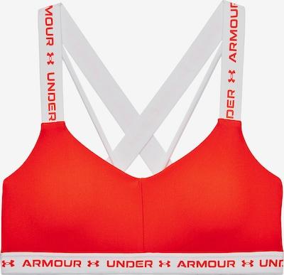 UNDER ARMOUR Sport-BH en orangerot / weiß, Vue avec produit