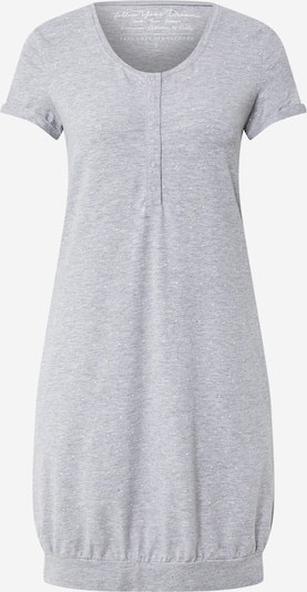 ESOTIQ Spalna srajca 'DAZZLE' | pegasto siva / bela barva: Frontalni pogled