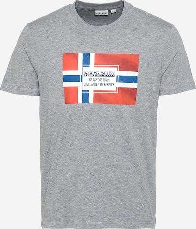 NAPAPIJRI Shirt 'SERA' in blau / graumeliert / rot / weiß, Produktansicht