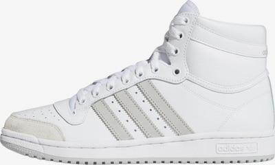 ADIDAS ORIGINALS Sneakers hoog 'Top Ten' in de kleur Lichtgrijs / Wit, Productweergave