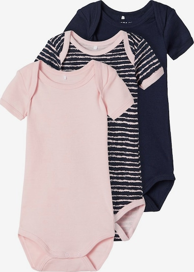 NAME IT 3er-Pack Body in dunkelblau / rosa, Produktansicht