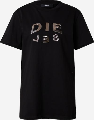 DIESEL Sportshirt 'DARIA' in schwarz / silber, Produktansicht