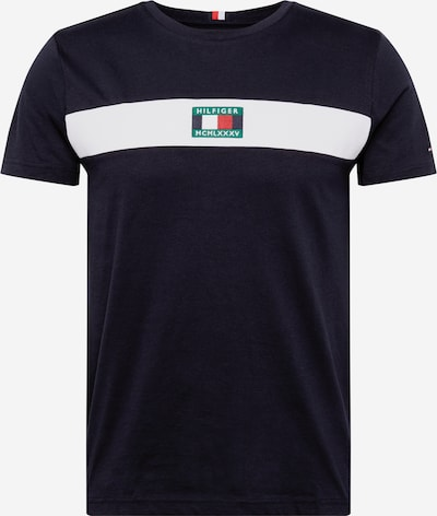 TOMMY HILFIGER Shirt in dunkelblau / weiß, Produktansicht