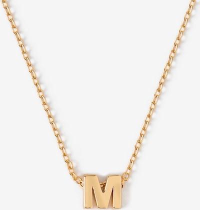 Orelia Chaîne 'Initial M' en or, Vue avec produit